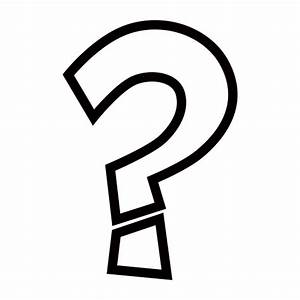 White Question Mark Ornament Emoji for Facebook, Email ...