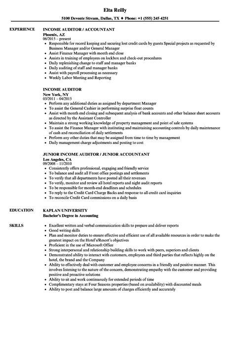 hotel auditor resume resume sle resume