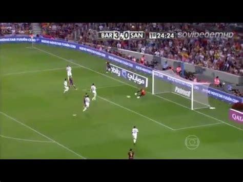Барселона - Сантос (8:0) 2 августа 2013. Контрольные матчи 2013-14. Протокол матча