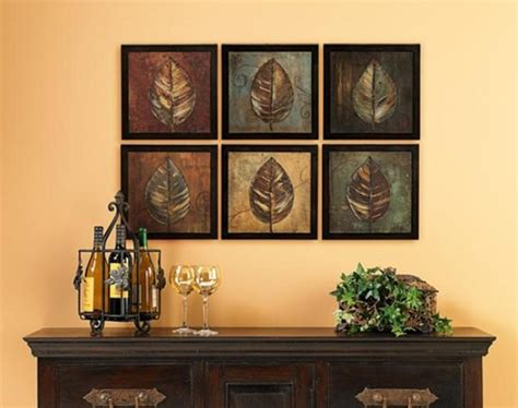 Framed Leaves Wall Art Dining Room Ideas  Home Interiors