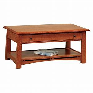 boulder creek open coffee table rockwood furniture co With amish furniture coffee table