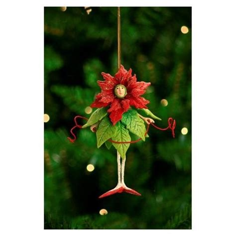 7 quot patience brewster krinkles poinsettia girl christmas
