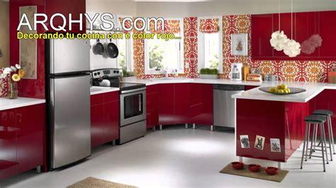 cocinas de color rojo youtube
