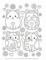 Coloring Notebook Ausmalen Zum Doodles Desenhos Kleurplaten Pintar Colorir Malen Katze Drawing Zeichnen Digi Gatto Pets Animal Gabbianella Welkom Activiteiten sketch template