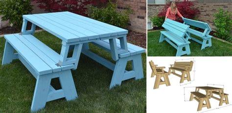 Convertible Picnic Table And Bench  Home Design, Garden