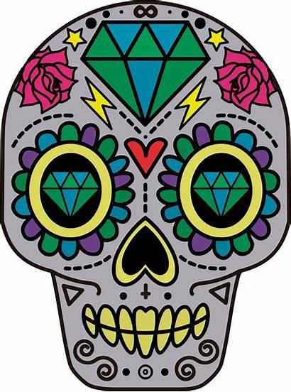 Skull Clipart Dead Transparent Flower Sugar Catrina