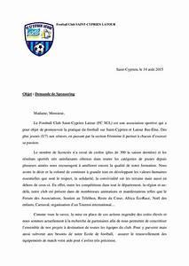 Lettre Demande De Sponsoring : lettre de demande de sponsoring ~ Medecine-chirurgie-esthetiques.com Avis de Voitures