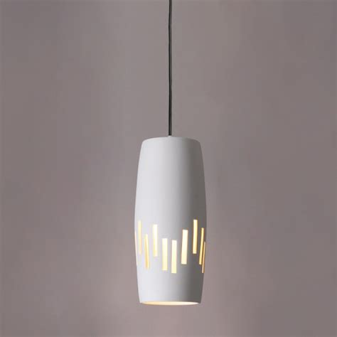 6 quot convex cylinder pendant light w vertical line pattern vintage ceramic pendant lights