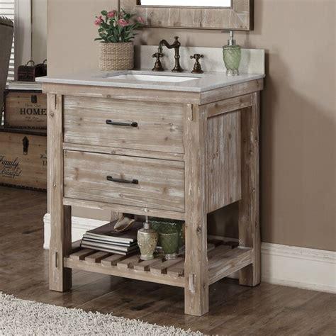 Rustic Bathroom Furniture by Shop Rustic Style Matte Ash Grey Limestone Top 30 Inch