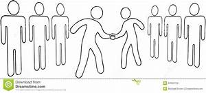 Outline Business People Leaders Agreement Stock Images ...