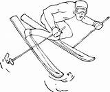 Skiing Coloring Pages Printable sketch template