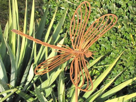 Gartendeko Libelle by Edelrost Gartenstecker Libelle Garden Dekoshop