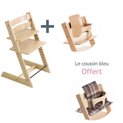 chaise bébé stokke chaise haute tripp trapp naturelle kit bébé coussin