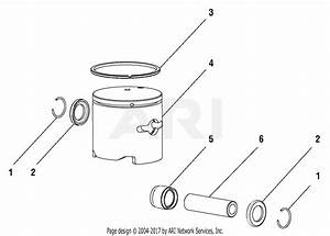 Homelite 51990a Brushcutter S  N 250000001  U0026 Up Parts Diagram For Piston