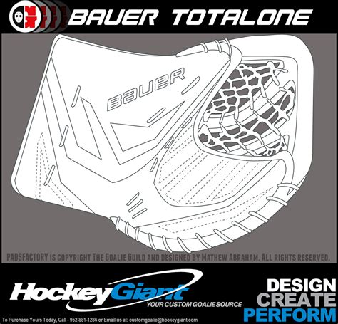 bauer goalie mask template pads glove templates the goalie archive