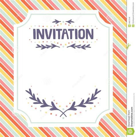 invitation template royalty  stock  image