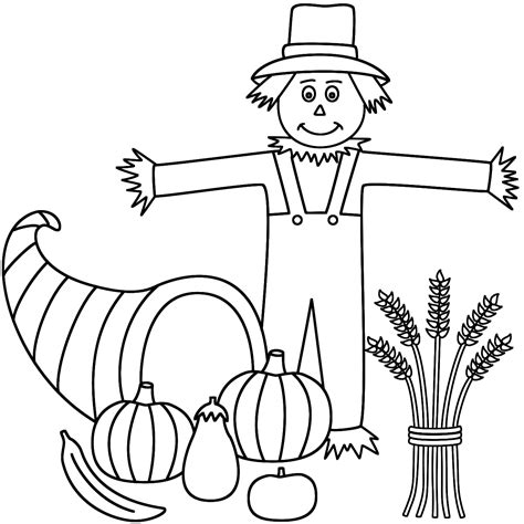 Coloring Page by Scarecrow Coloring Pages To And Print For Free