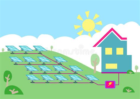 energy efficient home plans an array of solar powered cell converting sun energy into