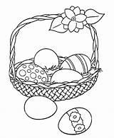 Coloring Easter Egg Eggs Basket Sheets Printable Hard Baskets Bunny Printables sketch template