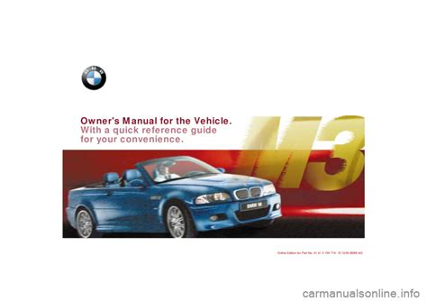 car owners manuals free downloads 2001 bmw m3 engine control bmw m3 convertible 2001 e46 owner s manual