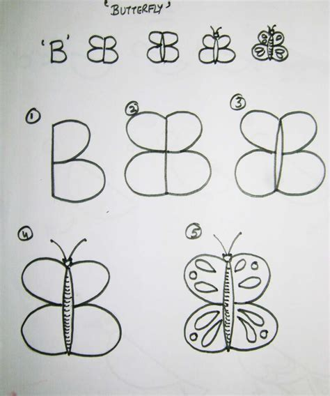 teach kids  draw   alphabet butterfly