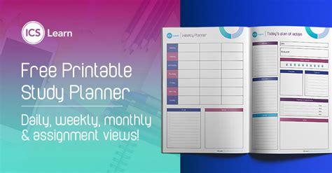 create   printable study planner  calendar