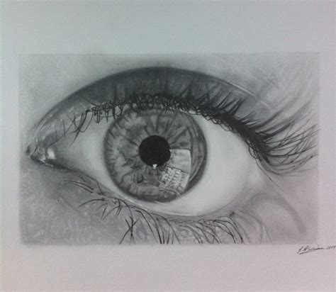 Anime Eye Reflection Eye Reflection In Pencil By Samanthamessias On Deviantart