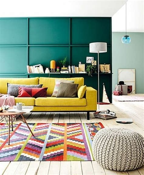 simple inspiration    style   yellow sofa