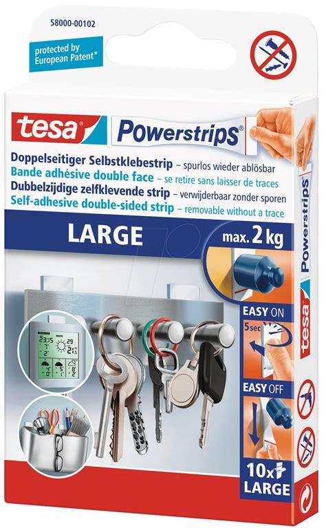 tesa powerstrips 5 kg tesa 58000 tesa powerstrips large 5 0 x 2 0 cm 10 st 252 ck bei reichelt elektronik