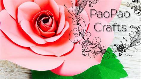 Rosa de papel Moldes GRATIS Flores gigantes de papel