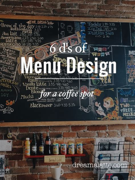 Download these beautiful coffee shop menu to add to the aesthetics of your coffee shop! Creating a Coffee Shop Menu - Dream a Latte