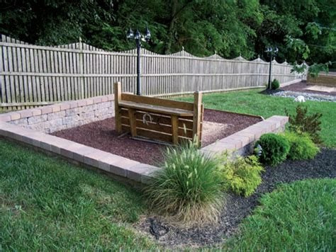 Horseshoe Pit Dimensions Backyard - how to build a horseshoe pit bocce and court