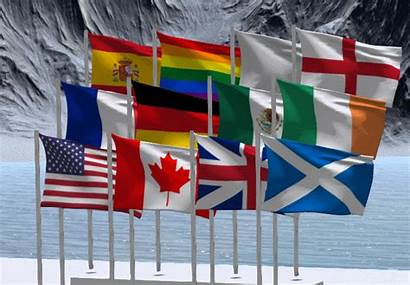 Flag Mesh Pole Contents Animated Marketplace Second