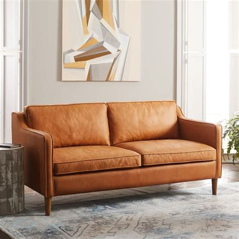west elm leather hamilton leather sofa hamilton 2 leather chaise