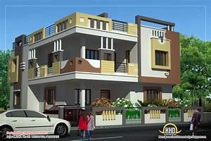 Design, Luxury, House, Duplex, House, Plan, And, Elevation
