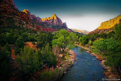Zion National Park Wallpaper Zion Canyon Utah Virgin River At Canyon Junction