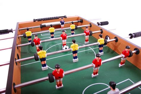 soccer table game price table soccer football game detail stock photo colourbox
