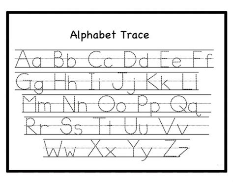 letter tracing worksheets  printable  toddlers