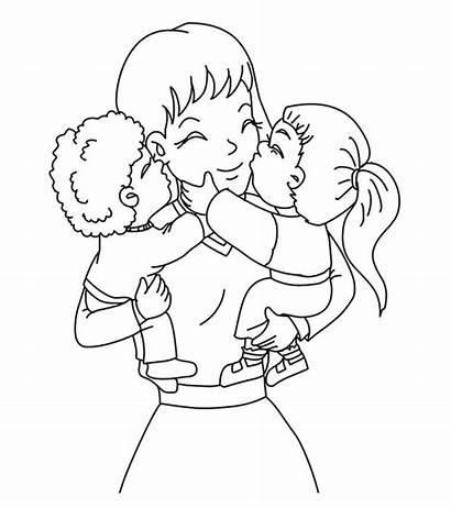 Coloring Pages Mother Mothers Sheets Mom Printable