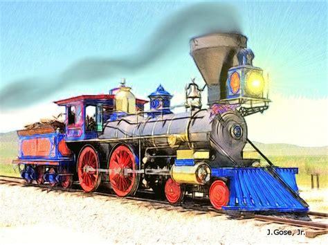 steam locomotive jupiter digital art by jerry gose jr