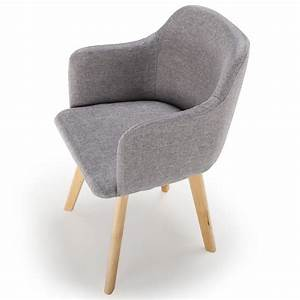 Chaise En Tissu Gris : chaise scandinave design tissu gris pas cher scandinave deco ~ Teatrodelosmanantiales.com Idées de Décoration