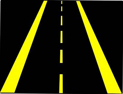 Road Horizontal Clipart Street Highway Cliparts Lane