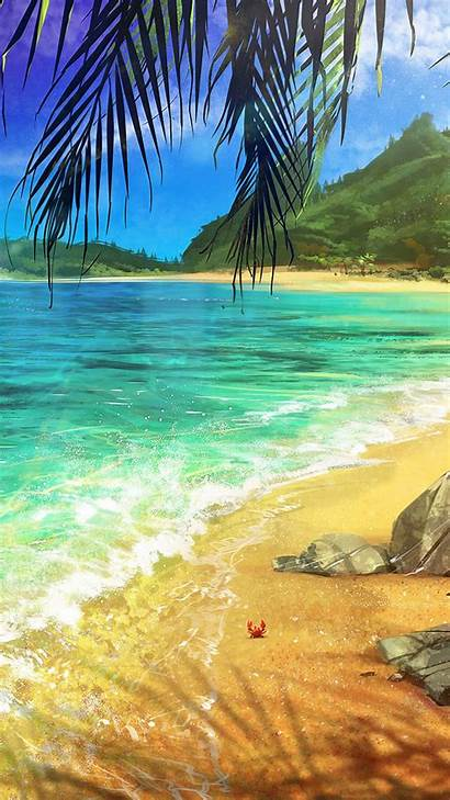 Ocean Palm Iphone Surf Wallpapers Desktop Lenovo