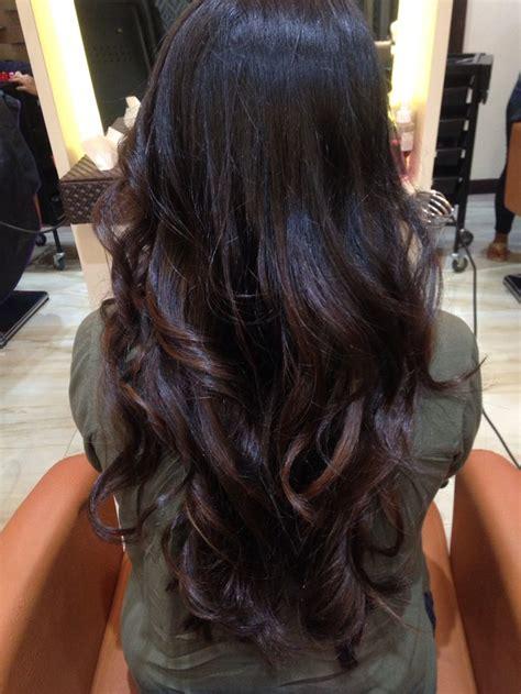 subtle balayage  black hair hairstyles balayage