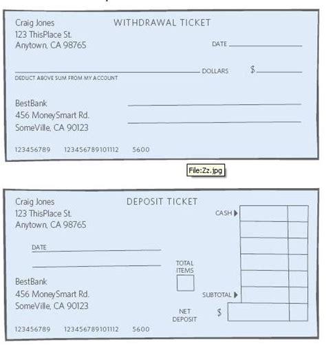 blank withdrawal slip volunteer guide checking savings global money