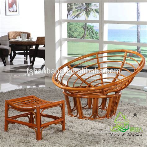 Wicker Saucer Chair For Adults Large Rattan Wicker Wood Plush Sleeping Relax Lounge Bowl Saucer Chair