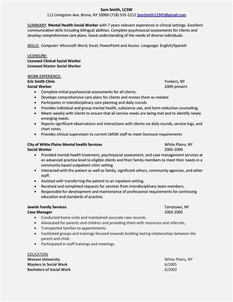 Mental Health Curriculum Vitae by Professional Cv Format Mental Health Counselor Resume
