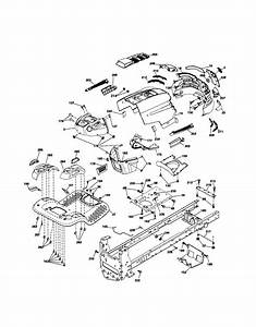Chassis Diagram  U0026 Parts List For Model Yth2348 Husqvarna