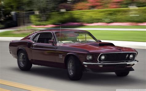 ford boss  mustang fastback  hd desktop