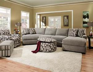 Corinthian josephine 3 piece sectional with chaise for Sectional sofa with cuddler and chaise